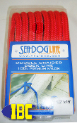 "1/2"" by 15"" Dock Line Red"