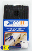Double Braided Nylon Dock Line Black