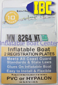 Inflatable Boat Number Plate Kit