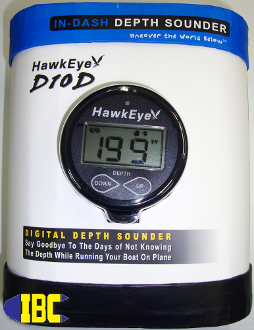 Hawkeye Digital Depth Sounder Panel Mount Type with transducer